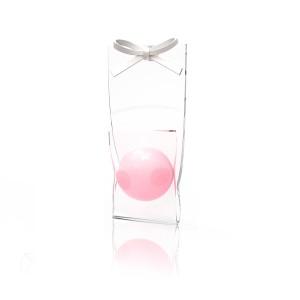 粉球蝴蝶结耳环