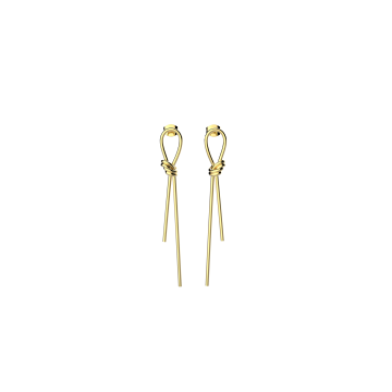 绳结耳环 黄金色