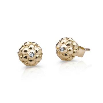 团圆耳钉(镶嵌宝石)18K黄金