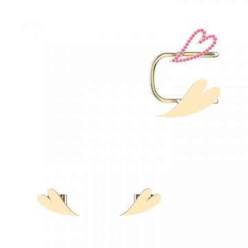 THE ONE系列心形耳钉耳夹组